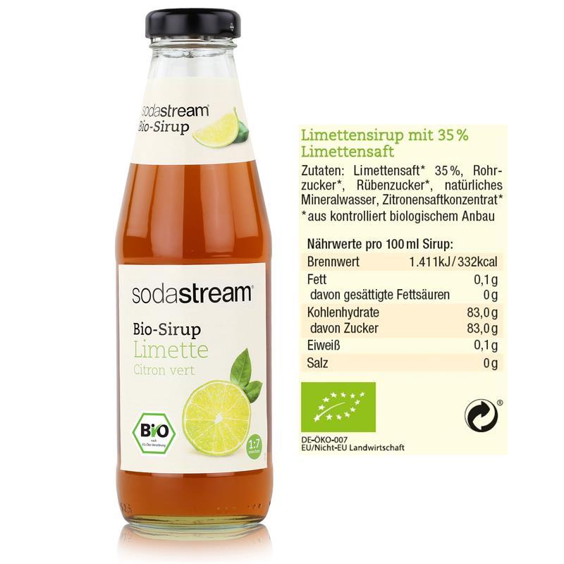 SodaStream Bio-Sirup Limette 500ml