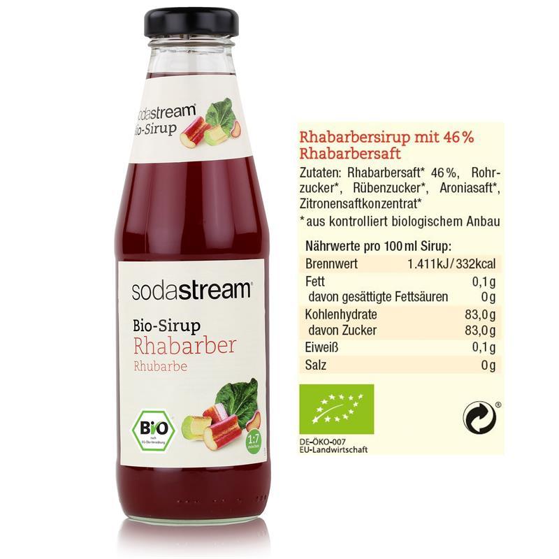 SodaStream Getränke-Bio-Sirup Rhabarber 500ml
