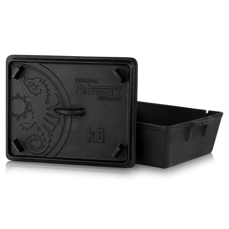 Petromax Kastenform mit Deckel 5,5L Inhalt K8 incl Deckelheber