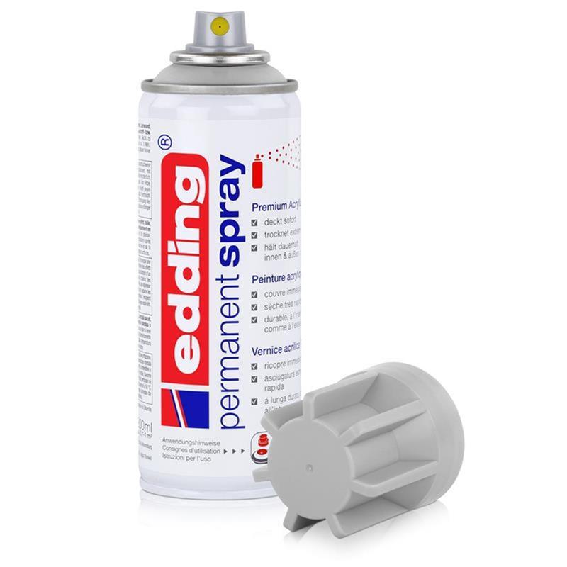 edding Permanent Spray lichgrau 200 ml Premium Acr RAL 7035