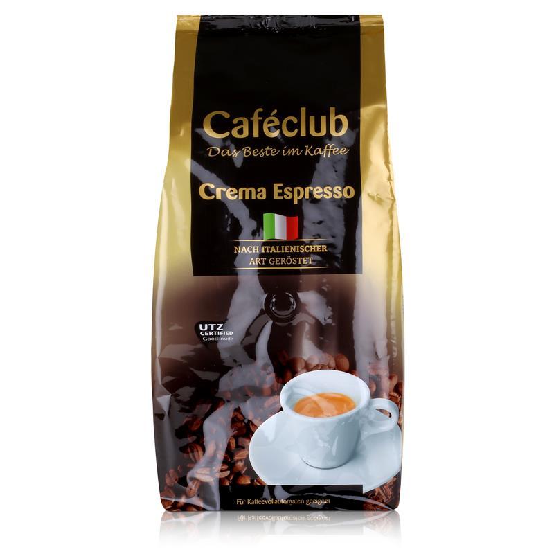 Cafeclub Crema Espresso Kaffee-Bohnen 1kg