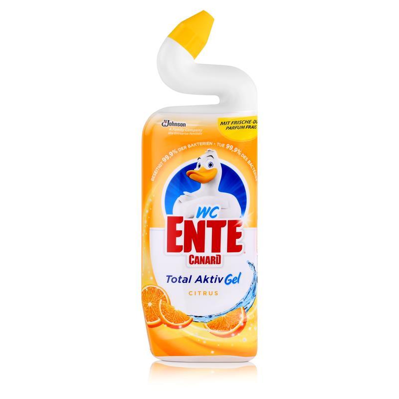 WC Ente Total Aktiv Gel Citrus 750ml - Flüssiger WC Reiniger