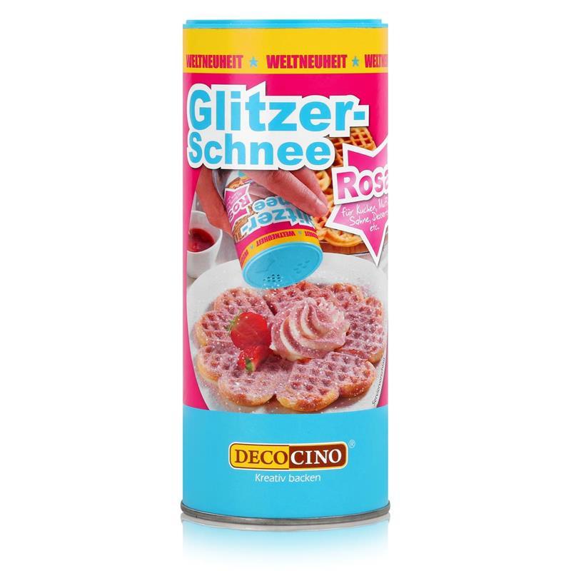 Dekoback Decocino Glitzer-Schnee Rosa 100g - Gefärbtes Dekorierpuder