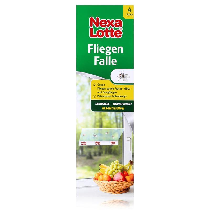 Nexa Lotte Fliegen Falle 4 Stk. - Frucht-, Obst- und Essigfliegen