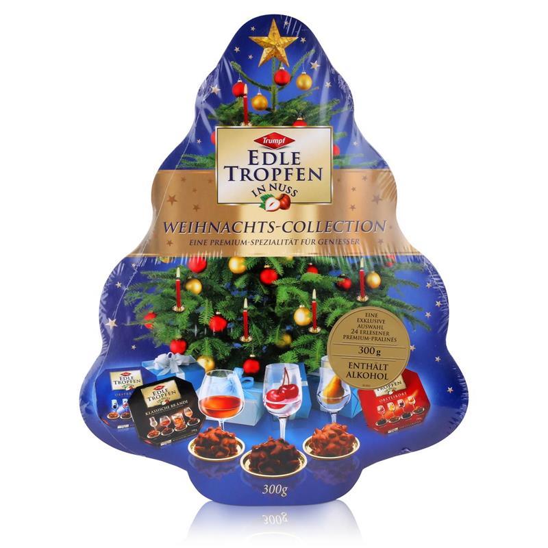 Trumpf Edle Tropfen in Nuss Weihnachts-Collection blau 300g Tanne