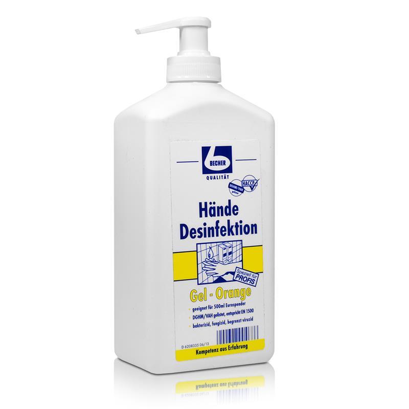 Dr. Becher Hände Desinfektion Gel-Orange 500 ml