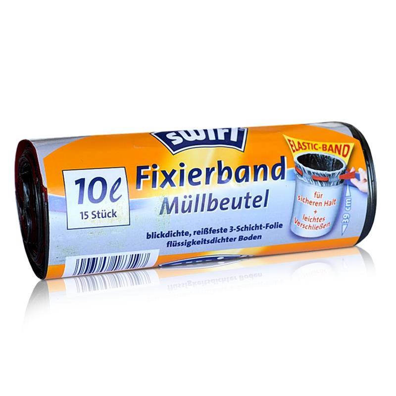 Swirl Fixierband Müllbeutel 10L ( 15 stk./ Rolle )