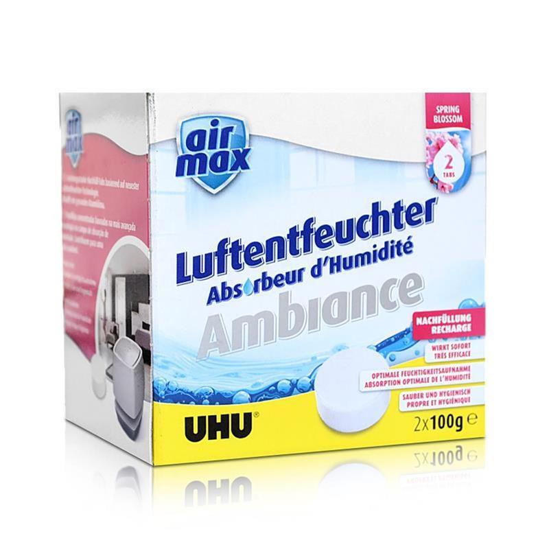 2x Uhu Air Max Ambiance Nachfülltabs 500g bluesky Luftentfeuchter