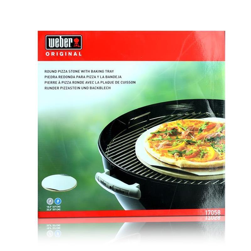 Küchenprofi Pizzastein Erfahrung ~ weber 17058 runder pizzastein und backblech 5707431025637