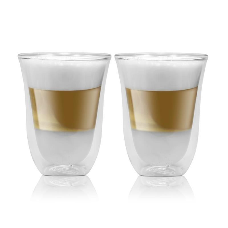 delonghi latte macchiato doppelwandiges thermoglas. Black Bedroom Furniture Sets. Home Design Ideas