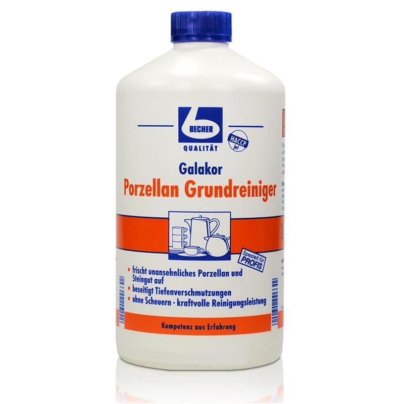 Dr. Becher Galakor Porzellan Grundreiniger 1 Liter - beseitigt Tiefenverschmutzungen