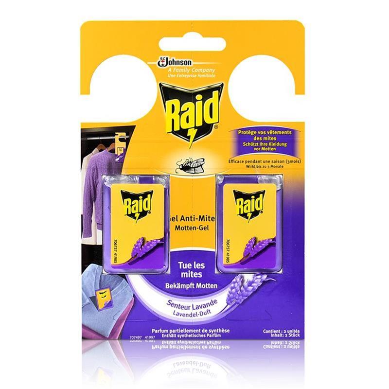 raid motten gel lavendel duft wirkt bis zu 3 monate sch tzt ihre kleidung vor motten. Black Bedroom Furniture Sets. Home Design Ideas
