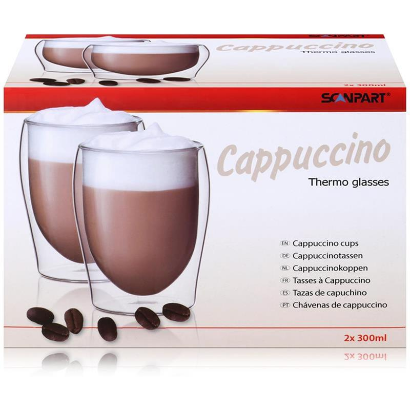 SCANPART Cappuccino Thermogläser 2x30cl - Doppelwandiges Thermoglas
