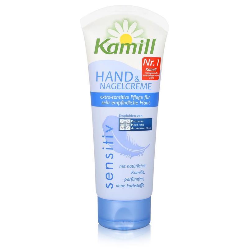 Kamill Hand & Nagel Creme Sensitiv 75ml - mit natürlicher Kamille (1er Pack)