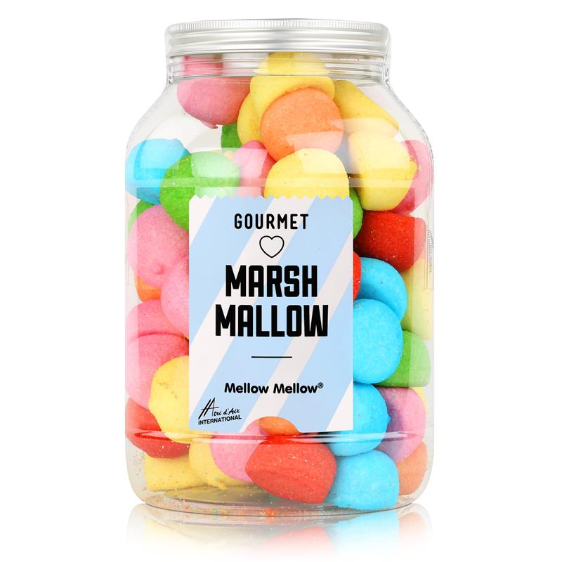 Mellow Mellow Marshmallows bunte Speckbälle 720g in der Retrodose (1er Pack)