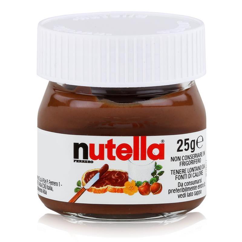 Ferrero Nutella Mini Glas Brotaufstrich Schokolade 25g - Nuss-Nougat