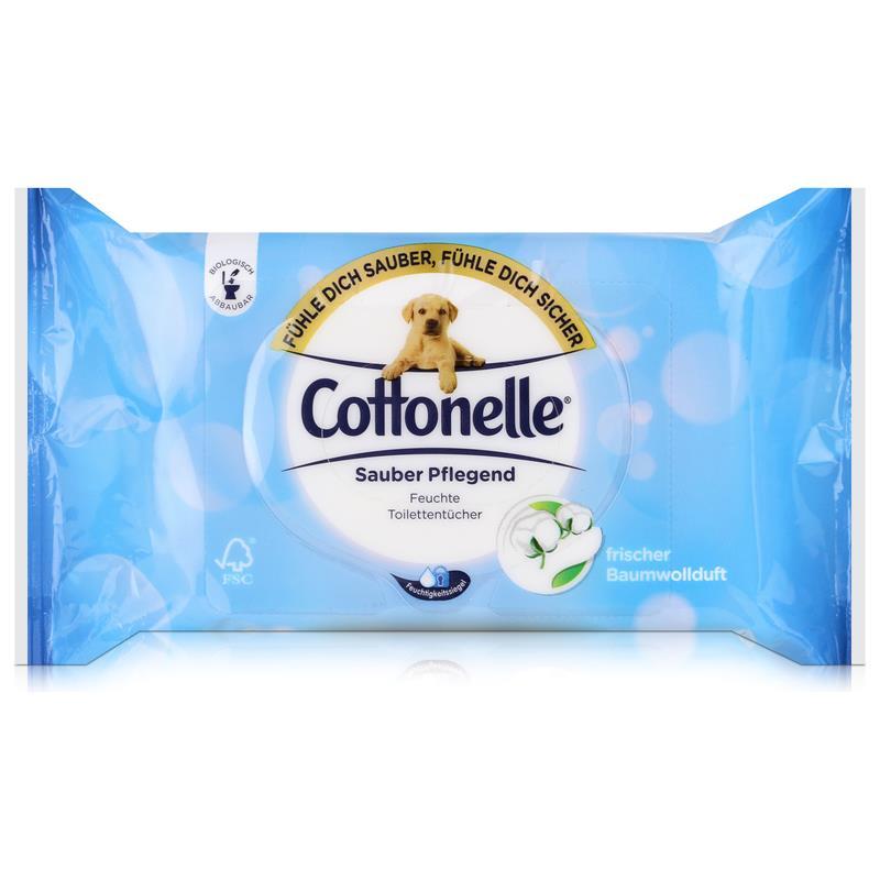 hakle cottonelle feuchte toilettent cher cotton fresh 42 t cher nachf ller. Black Bedroom Furniture Sets. Home Design Ideas