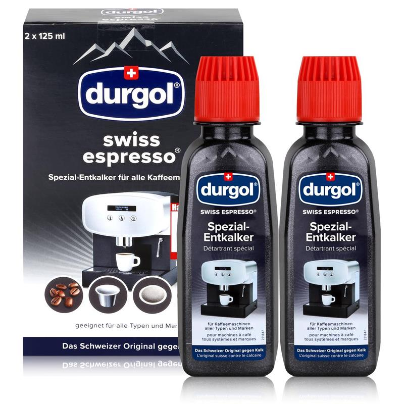 Durgol Swiss Spezial Espresso Entkalker Karton2 Flaschen a 125ml