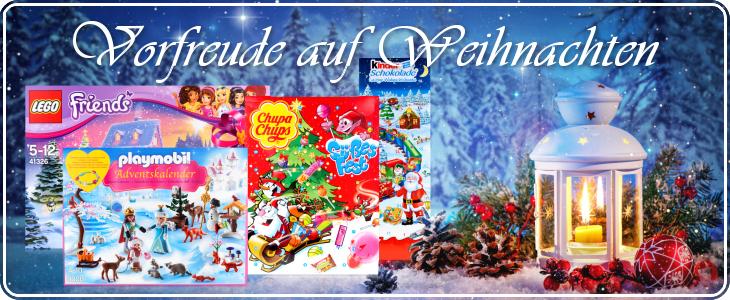 Adventskalender von Playmobil, Lego, ChupaChups, Kinderschokolade, Trumpf uvm.