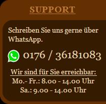 Support über WhatsApp