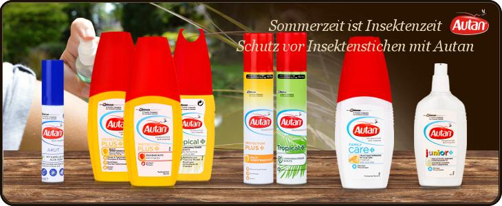 Autan Insektenschutz gegen Mücken, Zecken, Fliegen usw.